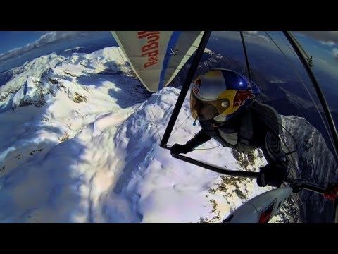 Epic hang gliding (Flying high in the snow mountains) Shot entirely with...