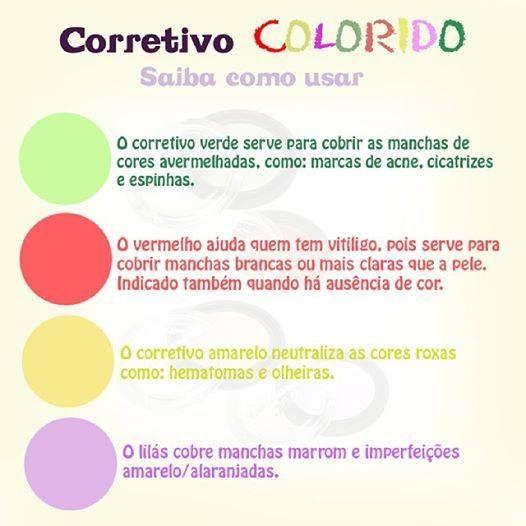 Como usar corretivo colorido!