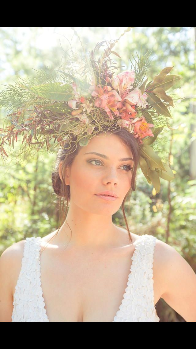 What a gorgeous floral head piece. Styling by Beauty Within - mobile makeovers