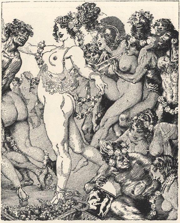 drawings of orgies