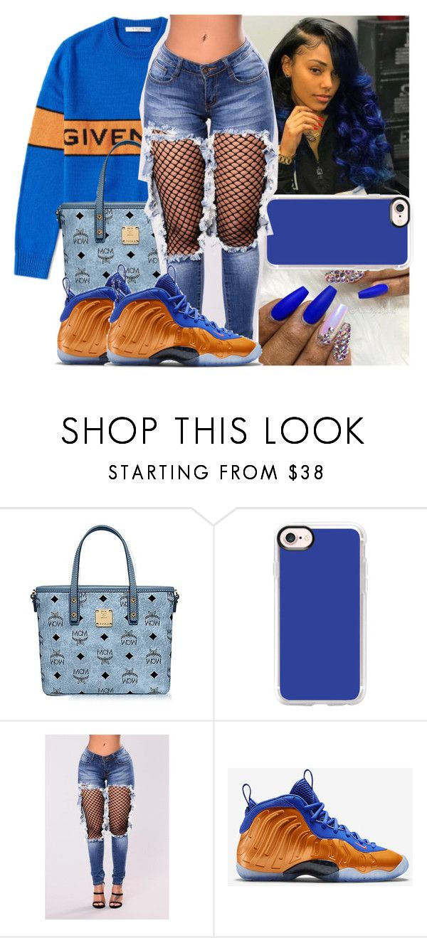 """"" by saditydej ❤ liked on Polyvore featuring beauty, Givenchy, MCM, Casetify and NIKE"