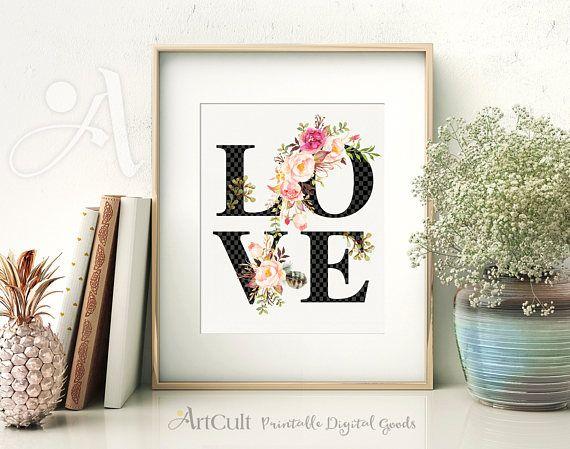 Imprimibles de arte romántico amor instantáneo descarga