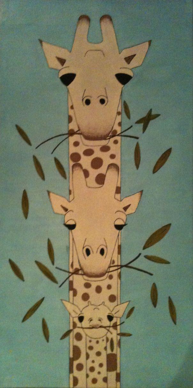 giraffe - Charley Harper style
