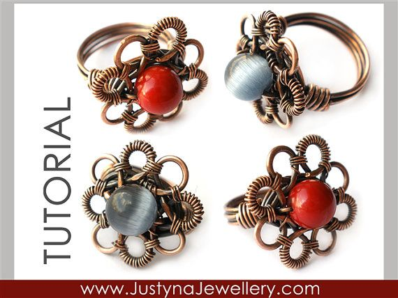 Wire Jewelry Tutorial Wire Ring Tutorial by JustynaJewellery, $4.99