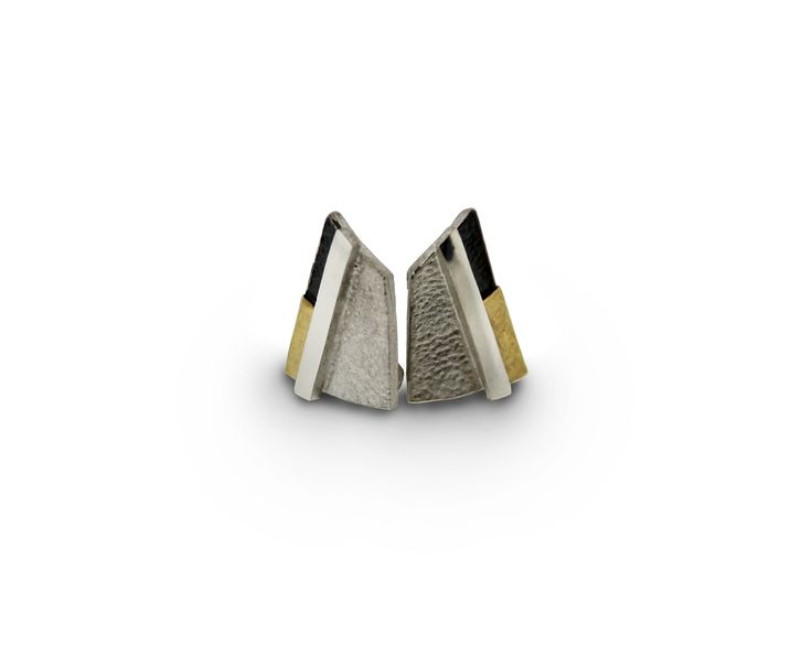 Earrings silver and gold  Audar collection Ref.20E1861 www.enrictorres.com