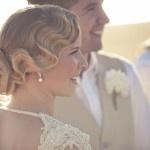 I love, love, love Tara's hair.    Sally Hughes - Melbourne Marriage Celebrant with Tara & Glenn in St Kilda.   www.wordsandmusic...