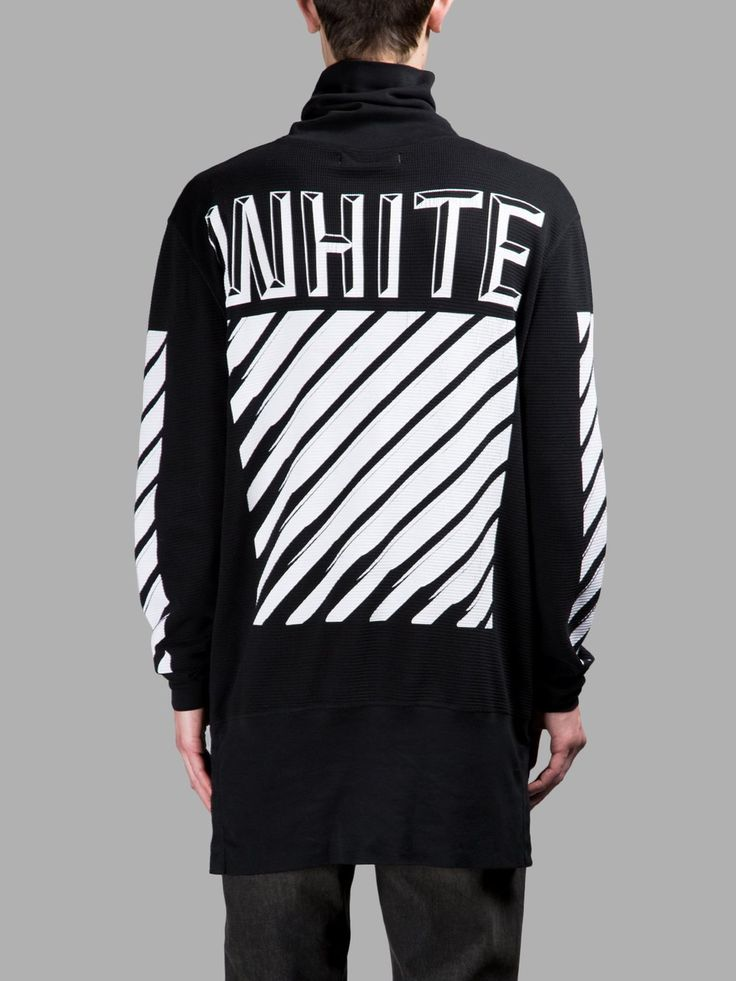 off white co virgil abloh menu0027s black waffle long sleeves tshirt