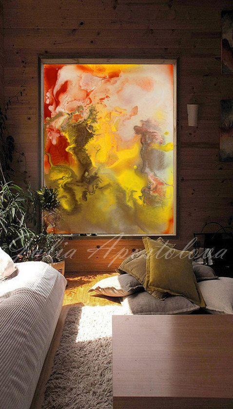 Autumn Painting Large Abstract Art Huge Wall by JuliaApostolova