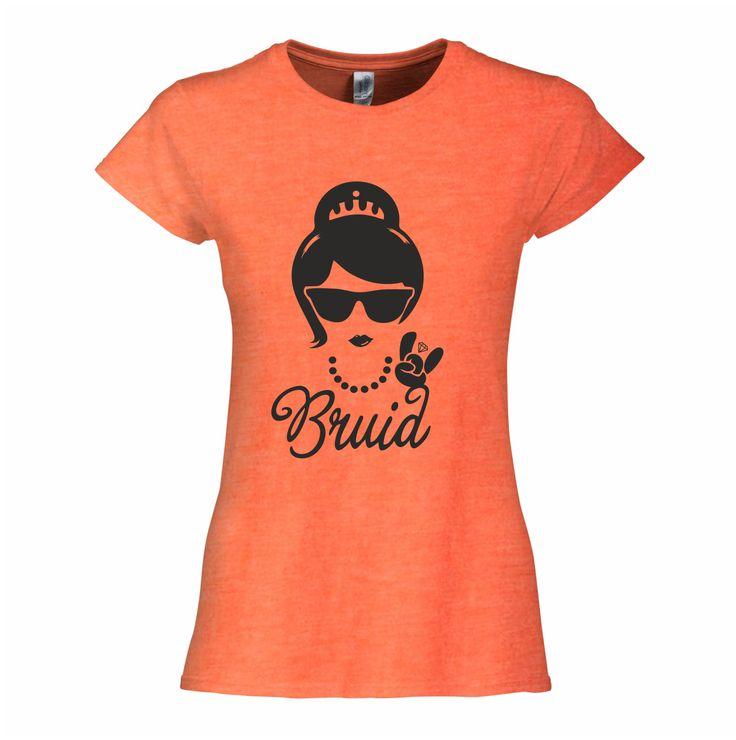 Bruid T-shirt - vrijgezellenfeest shirts - http://www.digitransfer.info/shop/dames-t-shirt-ronde-hals-vrijgezellenfeesten-2772#2772_2218