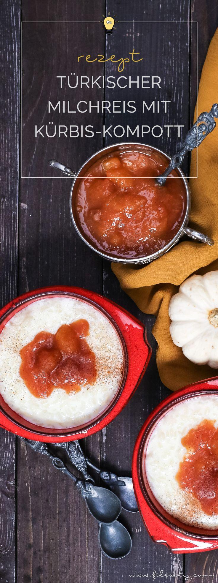 Herbst-Rezept: Türkischer Milchreis (Sütlac) mit Kürbis-Pflaumen-Kompott    Filizity.com   Food-Blog aus dem Rheinland #kürbis #herbst #dessert