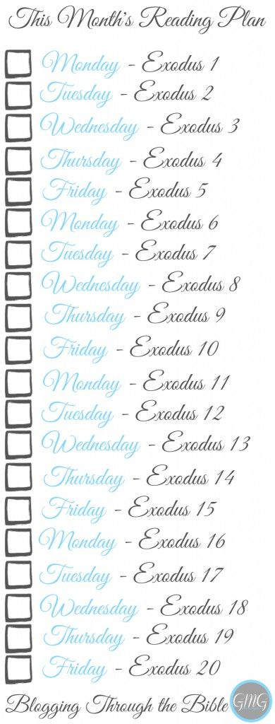 free January Bookmark for Exodus bible study