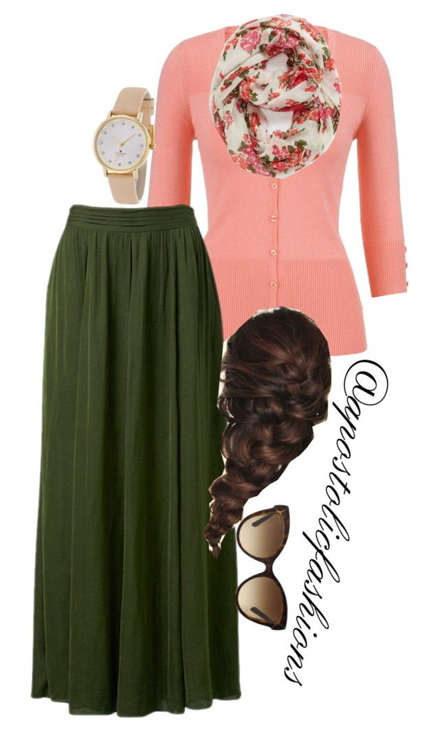 """""""Apostolic Fashions #1073"""" by apostolicfashions ❤ liked on Polyvore featuring maurices, Forever New, Capelli New York, Kate Spade, Disney, Bulgari, women's clothing, women, female and woman"""