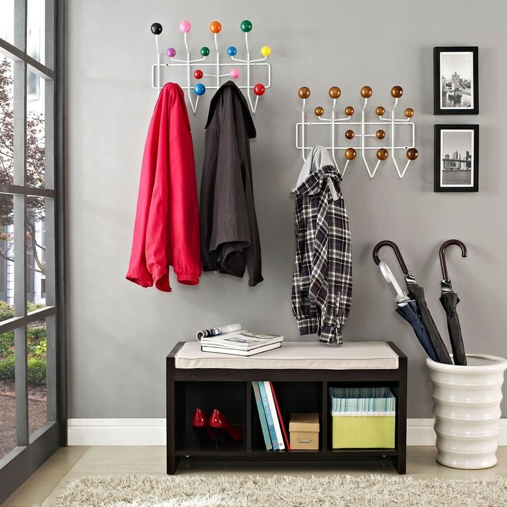 Modway Walnut or Multi Gumball Coat Rack