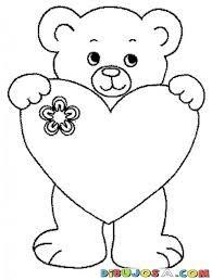 dibujos de osos para colorear facil