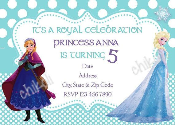 19 best My Party Creations images on Pinterest 5th birthday - invitation birthday frozen