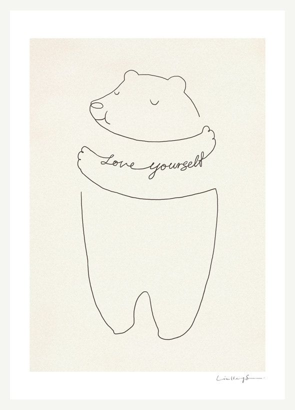 Love Yourself - Art Print. $30.00, via Etsy.