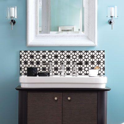 Bathroom Vanity Backsplash Ideas best 25+ vanity backsplash ideas on pinterest | bathroom renos