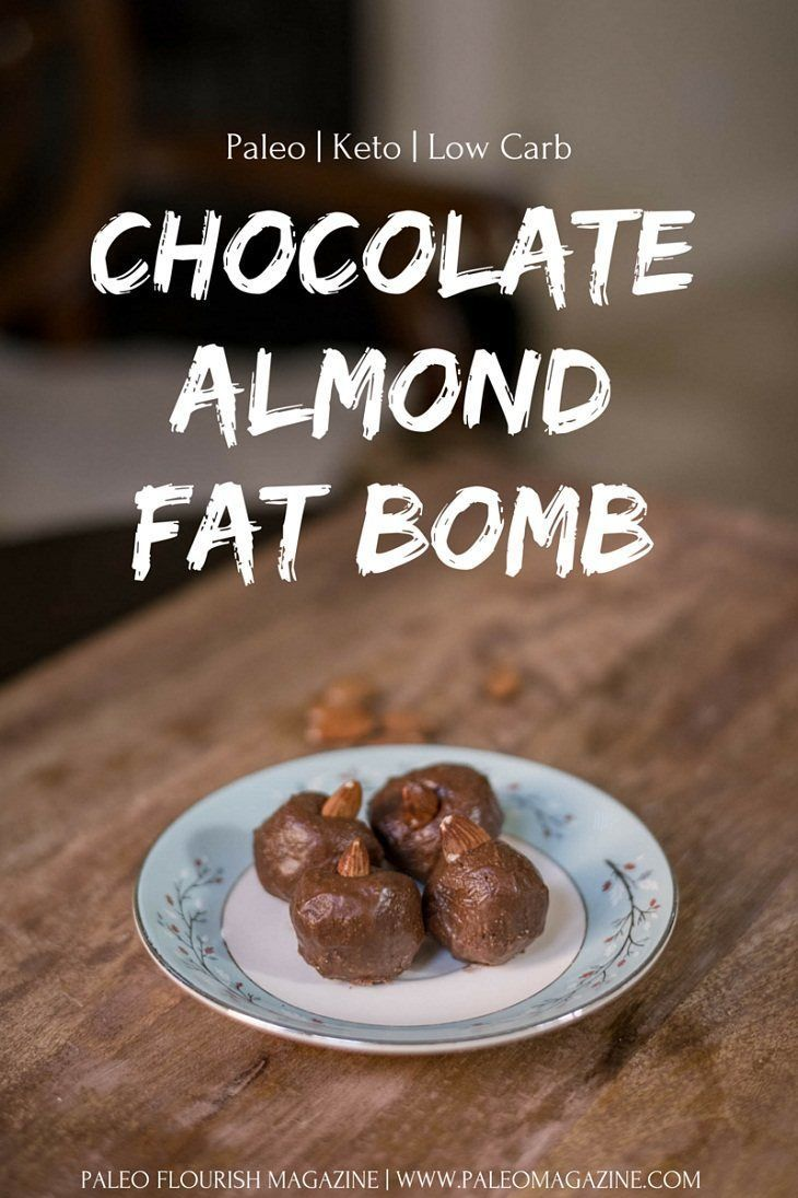 Chocolate Almond Keto Fat Bomb Recipe [Paleo, Low Carb, Dairy-Free] | Sweets | Paleo Desserts ...