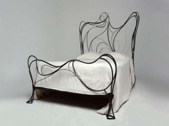Custom Metal Bed Frames as Sturdy Bed Frame: Custom metal bed frame - Germaine bed metal