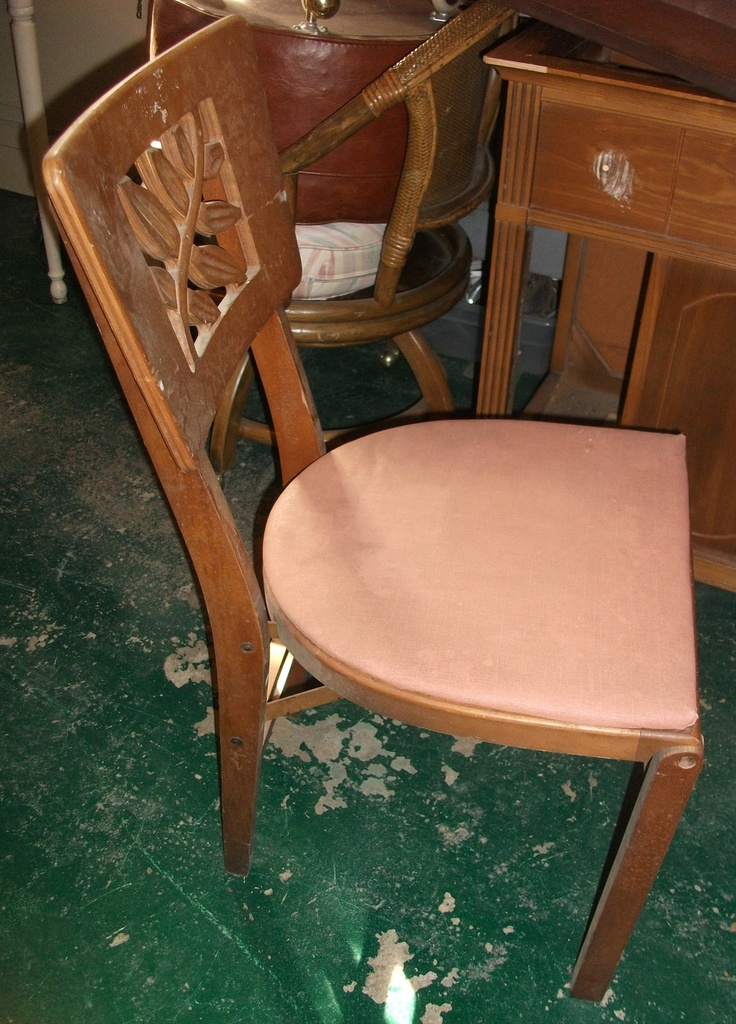 Side View Of The Chair. The Seat Will Be Recovered In A Fun Floral Print. Vanity  FairFloral ...