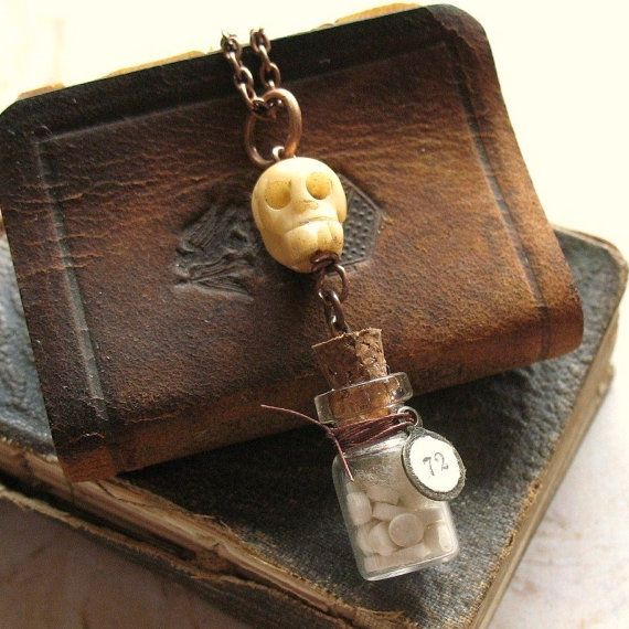 133 best images about little glass bottle jewelry on for Pill bottle jewelry