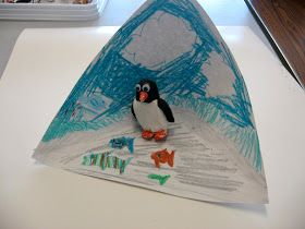 The kindergartners are studying penguins in their classroom, so we made penguins out of model magic modelling compound. One trick to get th...
