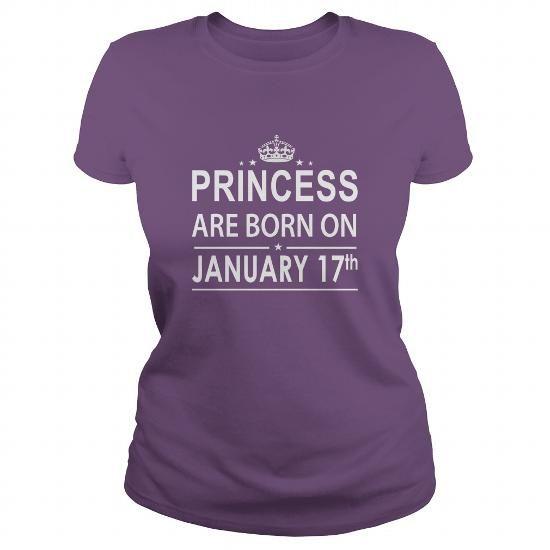 Awesome Tee 0117 January 17 Birthday Shirts Princess Born T Shirt Hoodie Shirt VNeck Shirt Sweat Shirt Youth Tee for Girl and Men and Family T shirts