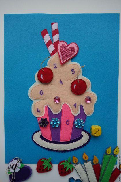 """Купить Развивающая игрушка """"Магазинчик сладостей"""", возраст 2,5+ - бирюзовый, мороженое, пирожное, торт"""
