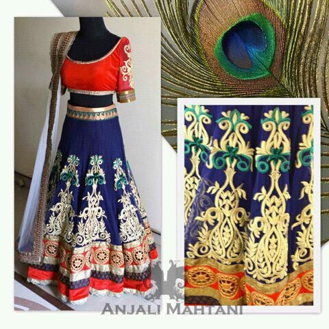 Anjali Mahtani Couture | Couture Ethnic Embroidered Lehenga