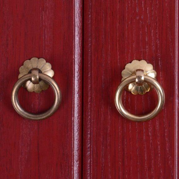 Antique Dresser Pull Knobs Drawer Knob Pulls Handles Drop Rings Bronze Kitchen Cabinet Pulls Knobs Pull