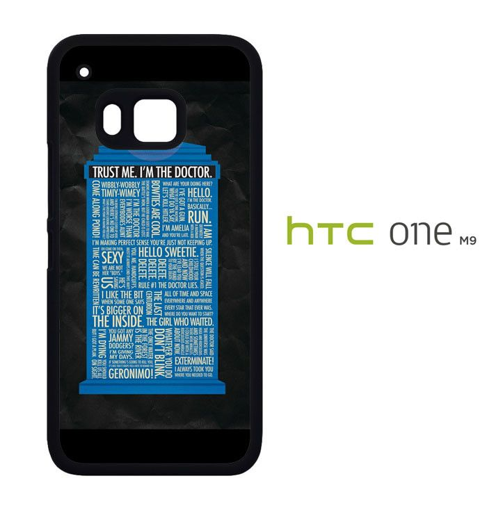 Tardis Doctor Who Quotes X3044 HTC One M9 Case