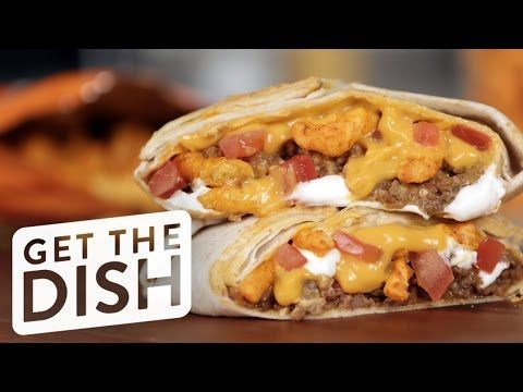How to Make Taco Bell Cheetos Crunch Wrap Sliders | Get the Dish - YouTube
