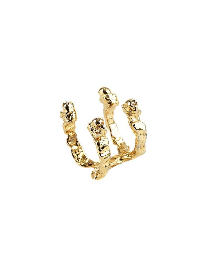 JADE CHIU RING Steel ring in gold colour