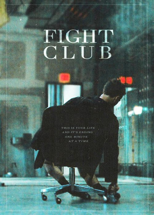 Fight Club. *I could put this into both movie and book, but it looks like a movie poster to me.*