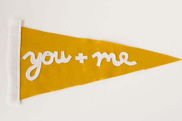 Make and Give // DIY You + Me Pennant Pillows • Lovely Indeed