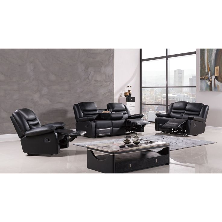 Black Leather Sofa Jcpenney: Leather Reclining Sofa, Recliners And Furniture