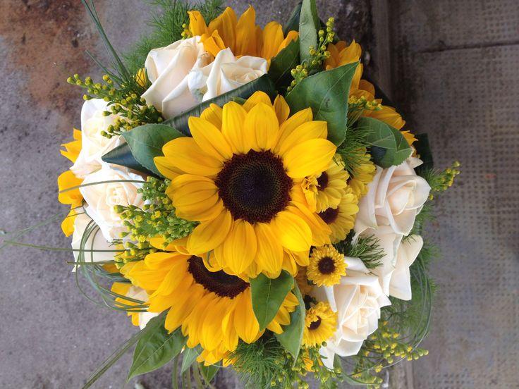 Fiori Matrimonio Girasoli : Oltre fantastiche idee su girasole bouquet da sposa