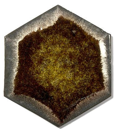 Golden Ceramic Handmade Wall & Floor Tile - Hexagon, glaze - Tiger Eye