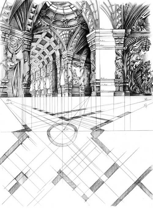 Technical Illustrations  (TRW architectural drawing)