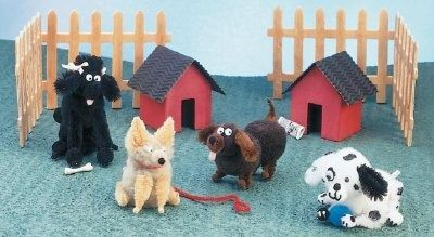 """TLC Family """"Who Let the Dogs Out?""""- pipe cleaners and pompoms"""