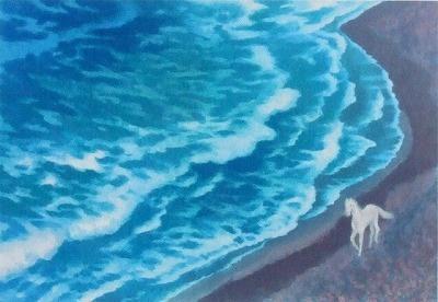 東山魁夷 風吹く浜 1972年