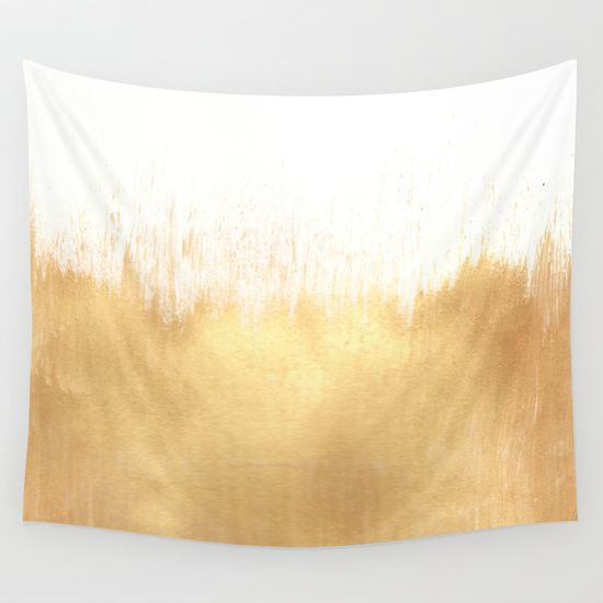 Brushed Gold Wall Tapestry by Caitlin Workman
