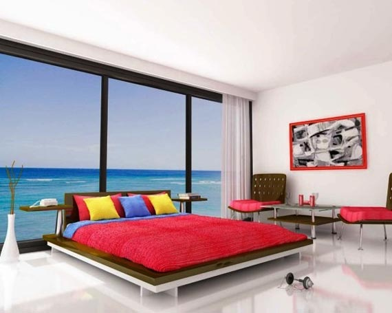okno to, czy fototapeta?: Day Beds, Dreams Bedrooms, Bedrooms Design, Interiors Design, Beaches Houses, Bedrooms Interiors, Ocean View, Bedrooms Ideas, Modern Bedrooms