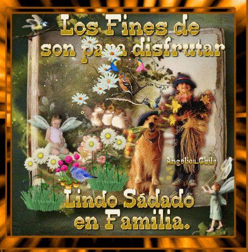 SUEÑOS DE AMOR Y MAGIA: Los fines de semana son para disfrutar en familia
