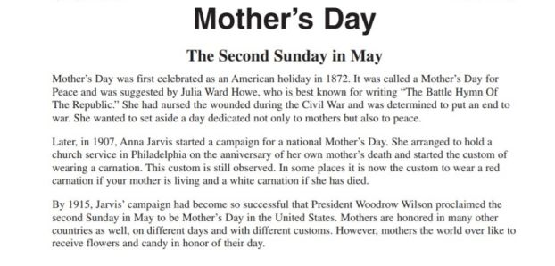 Essay on mothers