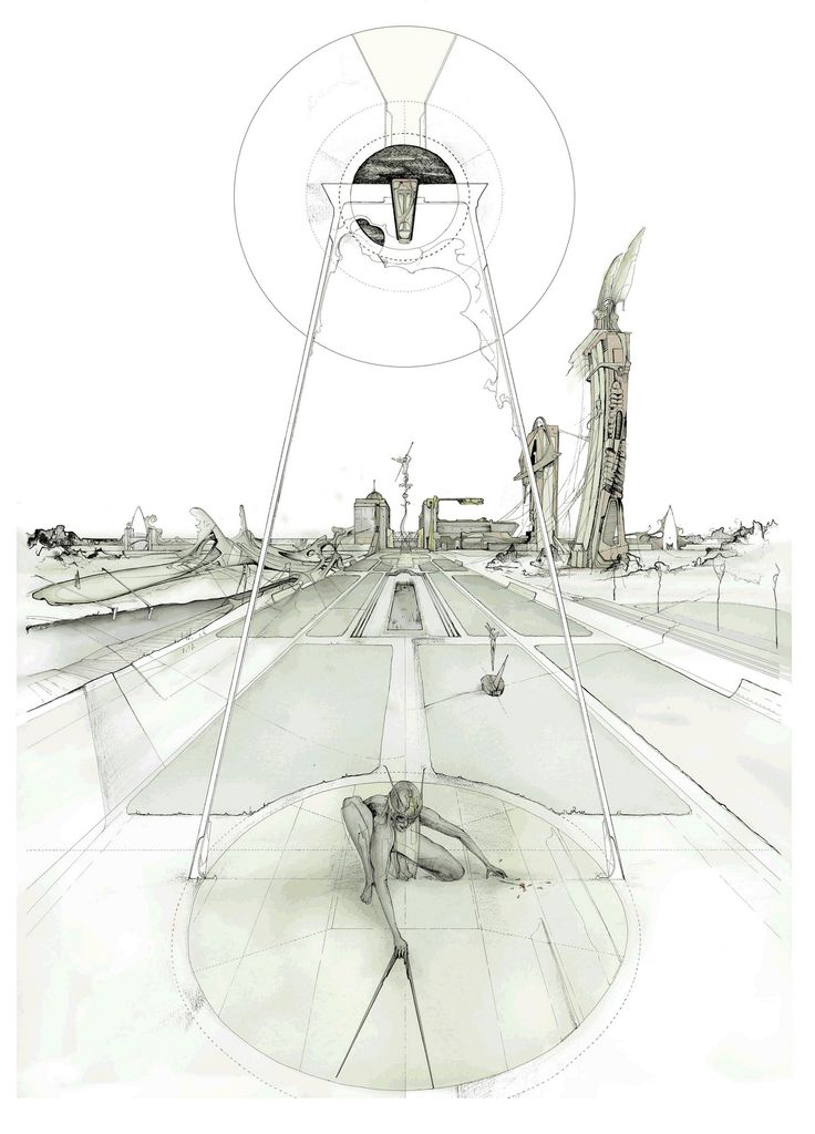 DAN SLAVINSKY  A SERIES OF DRAWINGS FROM THE END OF TIME BARTLETT, LONDON 2010