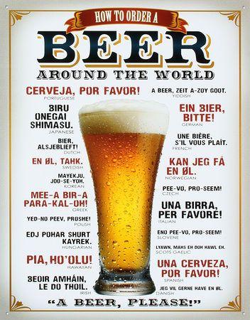 Comment commander une bière Plaque en métal sur AllPosters.fr