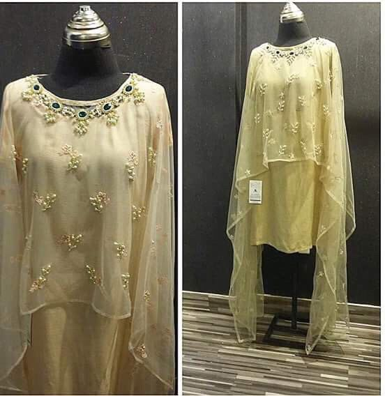 A personal favorite from my Etsy shop https://www.etsy.com/listing/261652192/pakistani-dress-designer-cape-with