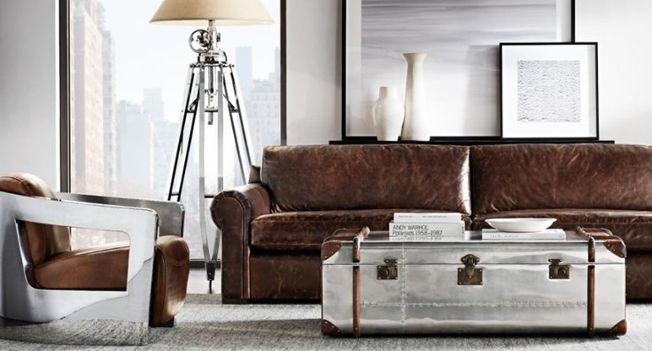 9 Modern Sofas By Restoration Hardware That Will Steal Your Attention | Living Room Ideas. Leather. #modernsofas #livingroomset #leathersofa Read more: http://modernsofas.eu/2016/11/24/modern-sofas-restoration-hardware-steal-attention/