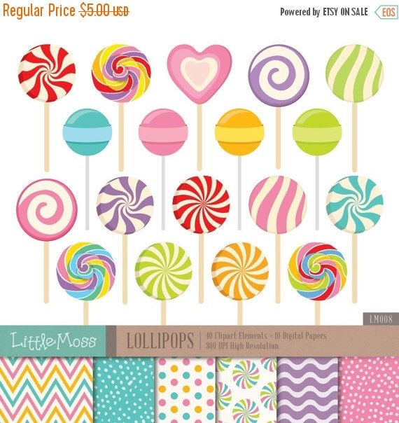 30% OFF Lollipop Digital Clipart and Papers by LittleMoss on Etsy https://www.etsy.com/uk/listing/227326219/30-off-lollipop-digital-clipart-and